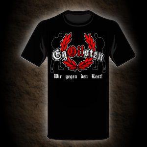 schwarzes Wir gegen den Rest Shirt der Band Egoisten