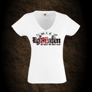 Girly T-Shirt EgOisten V-Ausschnitt